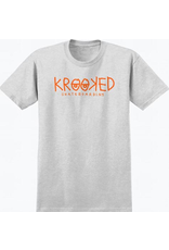 Krooked Krooked KRKED Eyes T-shirt - Ash Heather/Red