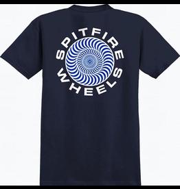 Spitfire Spitfire Classic 87 Swirl T-shirt - Navy/White