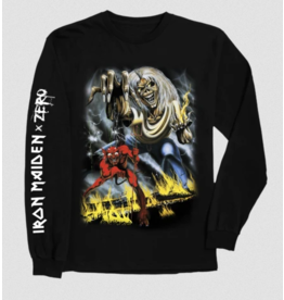 Zero Zero x Iron Maiden Number of the Beast Longsleeve T-shirt - Black