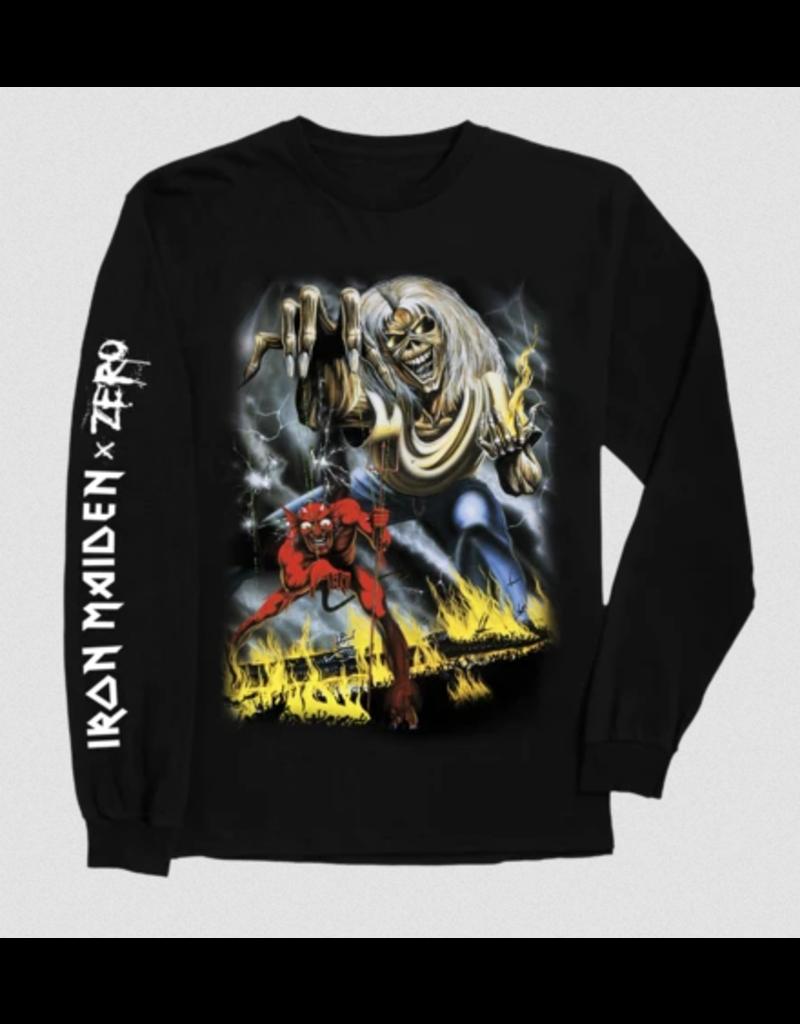 Zero Zero x Iron Maiden Number of the Beast Longsleeve T-shirt - Black