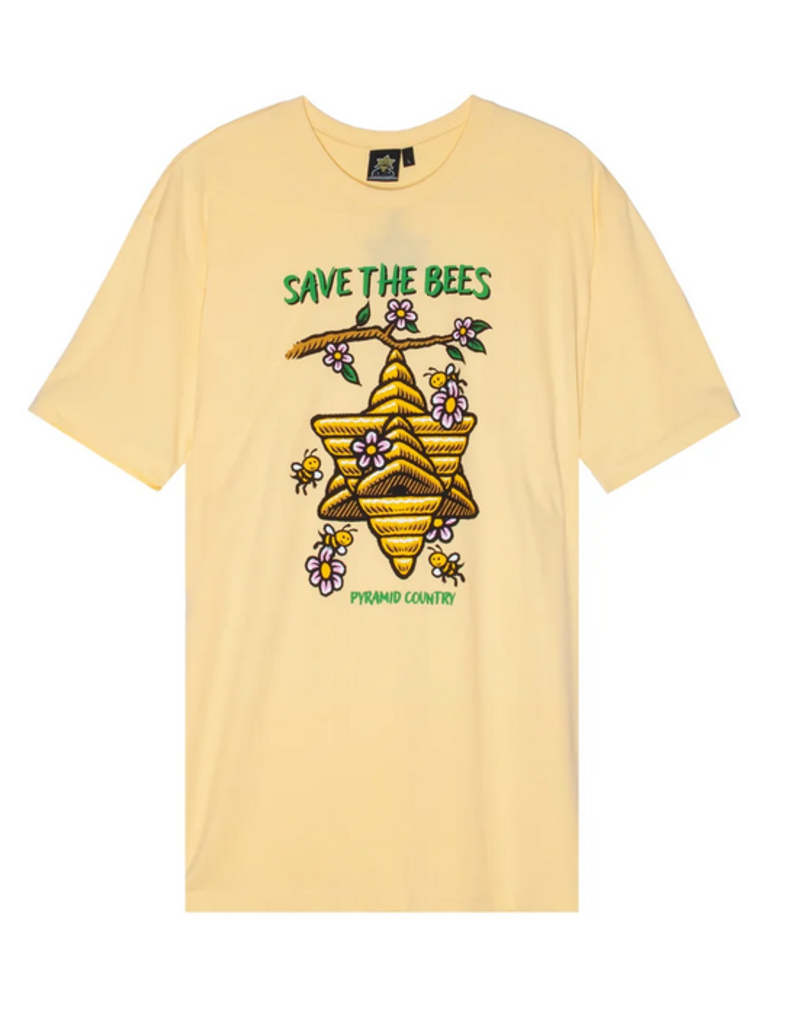 Pyramid Country Pyramid Country Save the Bees T-shirt - Yellow
