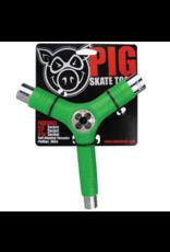 Pig Pig Tri-Socket Threader Skate Tool - Green