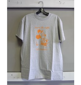 Snack Snack Seein the Sights T-shirt - Grey/Orange (size Medium)