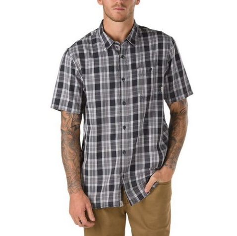 Vans Vans Sherborn S/S Button Up - Black  (Size Medium)