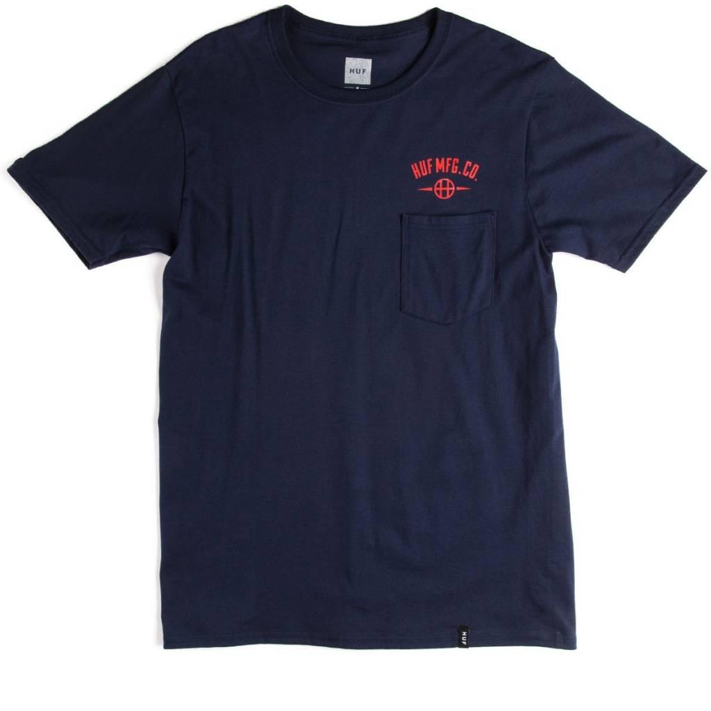 Huf Worldwide Huf MFG Station Pocket T-shirt - Navy