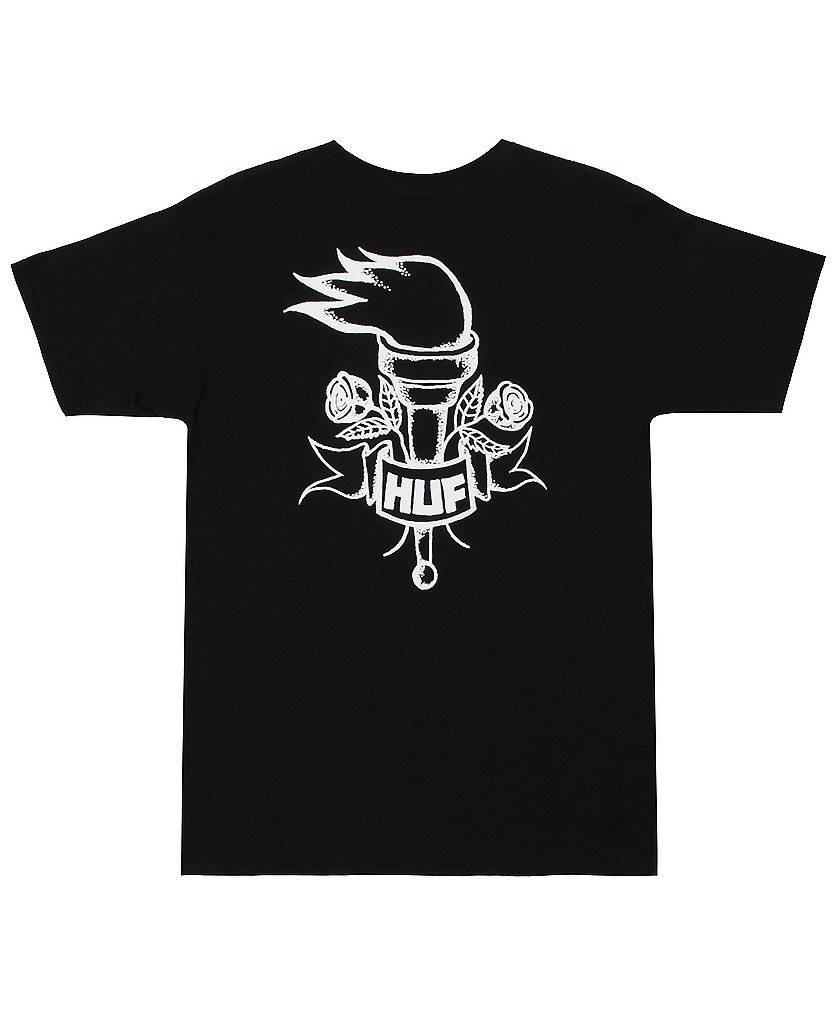 Huf Worldwide Huf Torch T-shirt - Black (size Medium)