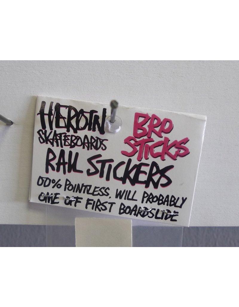 Heroin Heroin Rails Sticker Pack - Blue