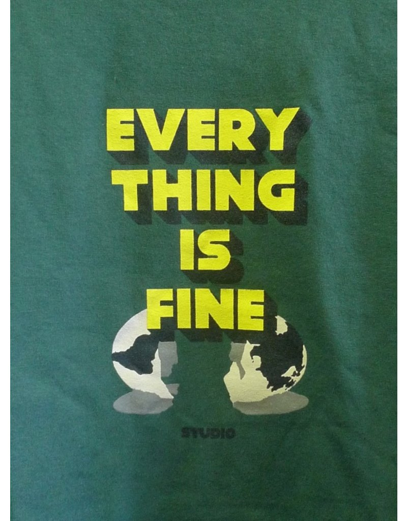 Studio Studio I'm Fine T-shirt - Forest Green