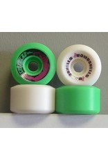 Speedlab Wheels Speedlab Bombshells 2 Green/White 57mm 99a Wheels (Set of 4)