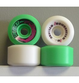 Speedlab Wheels Speedlab Bombshells 2 Green/White 57mm 99a Wheels (Set of 4)