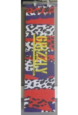 """Grizzly Grizzly Animal Panel Stamp Perforated 9"""" Grip Sheet"""