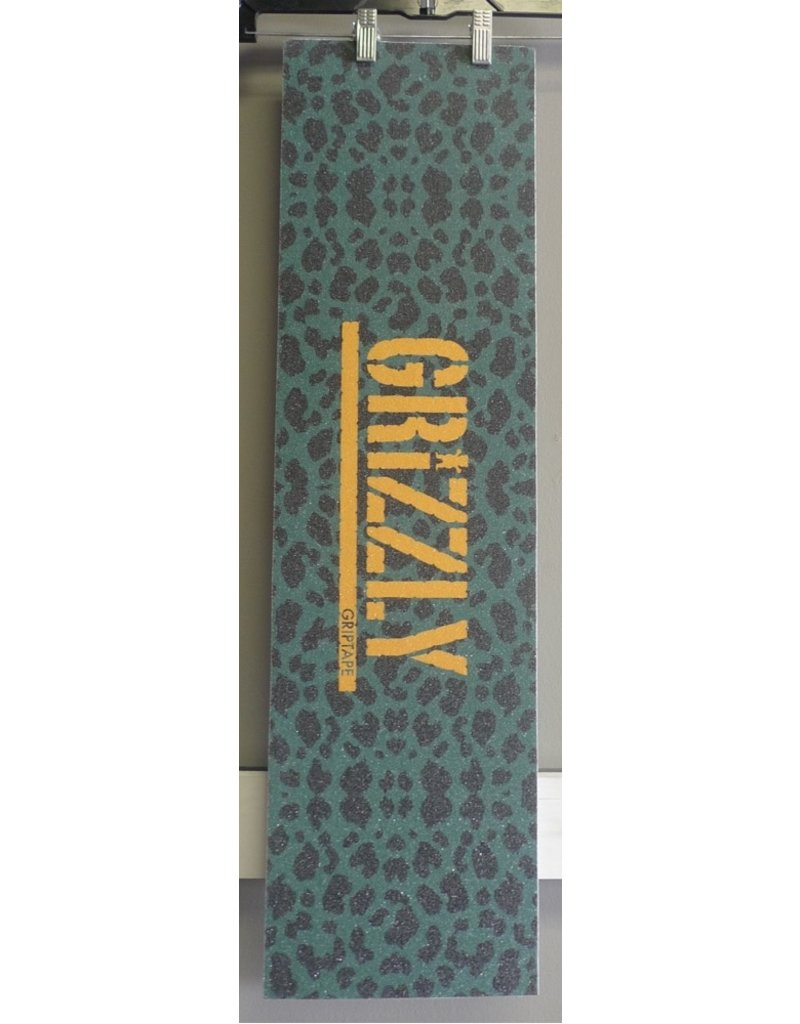 """Grizzly Grizzly Green Cheetah Stamp Perforated 9"""" Grip Sheet"""