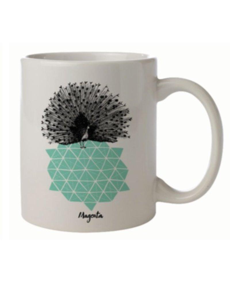 Magenta Magenta Peacock Mug