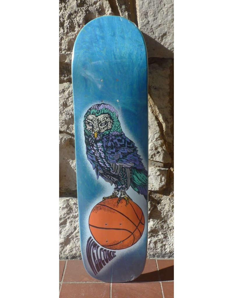 Welcome Welcome Hooter Shooter on Bunyip Blue Stain Deck - 8.0 x 31.6