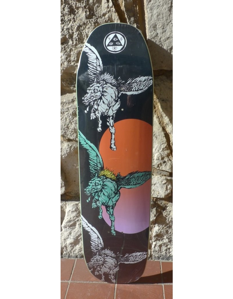 Welcome Welcome Peggy on Son of Moontrimmer Black Deck - 8.25 x 32.125