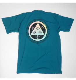 Welcome Welcome Latin Talisman 2 Garment Dyed T-shirts - Topaz/Prism (size Medium or Large)