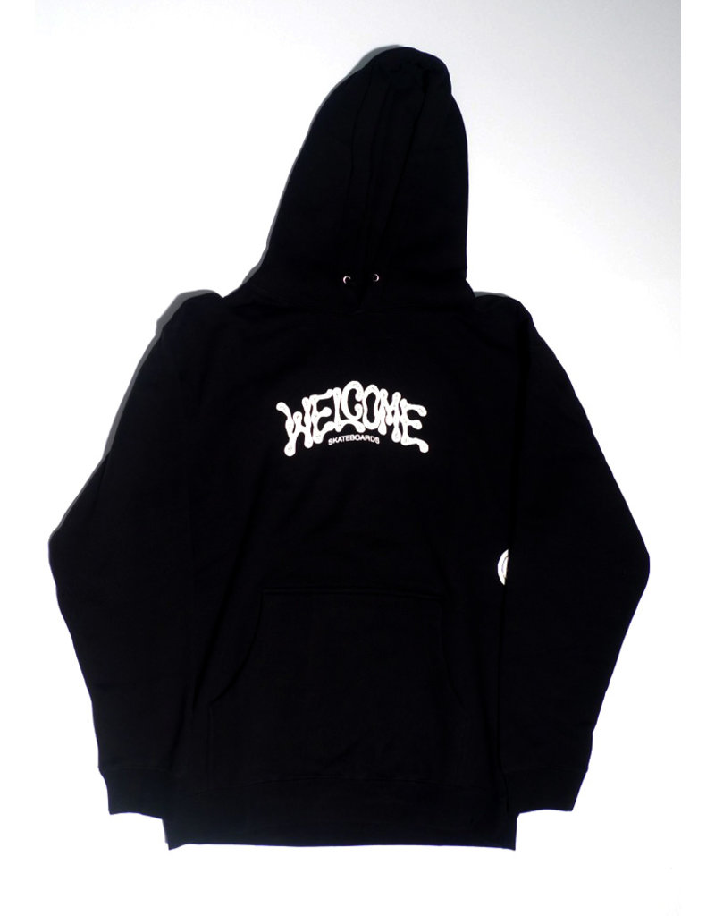 Welcome Welcome Droop Pullover Hoodie - Black (size Large or X-Large)