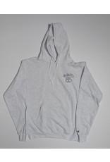 FA skates FA skates 85 Embroidered Hoodie - Silver Grey