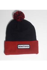 Dogtown Dogtown Work Patch Pom Pom Beanie - Black/Red