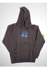 Krooked Krooked Eyes Large Solid Pullover Hoodie - Charcoal
