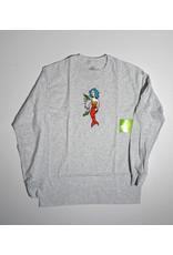 Krooked Krooked Mermaid Long Sleeve T-shirt - Ash Heather