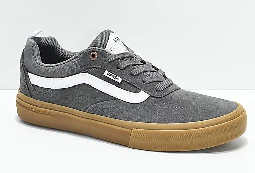 vans walker pro pewter & gum skate shoes