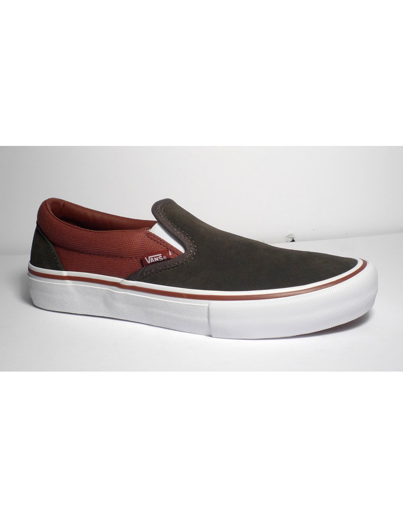 Vans Vans Slip On Pro - (Heavy Twill) Olive/Henna (size 11)