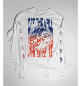 Vans Vans Gradient Skulls Longsleeve T-shirt - White (size Medium or Large)
