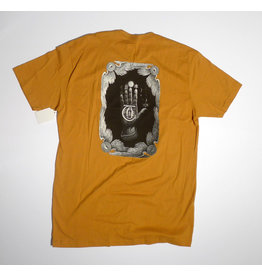 Theories Brand Theories - Hand of Theories T-shirt - Mustard (size Large)
