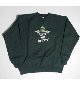 Thrasher Mag Thrasher Gonz Sad Crewneck - Forest Green (size X-Large)