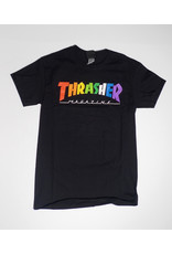 Thrasher Mag Thrasher Rainbow Logo T-shirt - Black  (size Large)