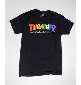 Thrasher Mag Thrasher Rainbow Logo T-shirt - Black (size Large)
