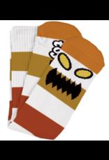 Toy Machine Toy Machine Monster Big Stripe Socks - Brown