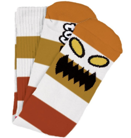Toy Machine Toy Machine Monster Big Stripe Socks - Brown