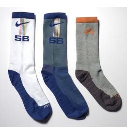 Nike SB Nike sb Everyday Max Lightweight Crew Sock (3 Pack) - White/Grey/Blue