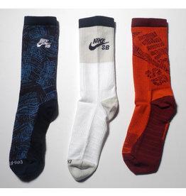 Nike SB Nike sb Everyday Max Lightweight Crew Sock (3 Pack) - Blue/White/Red