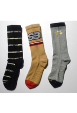 Nike SB Nike sb Everyday Max Lightweight Crew Sock (3 Pack) - Tan/Grey/Black