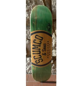 Scumco & Sons Scumco & Sons Logo Green/Orange Deck - 8.0 (Silverspoon)