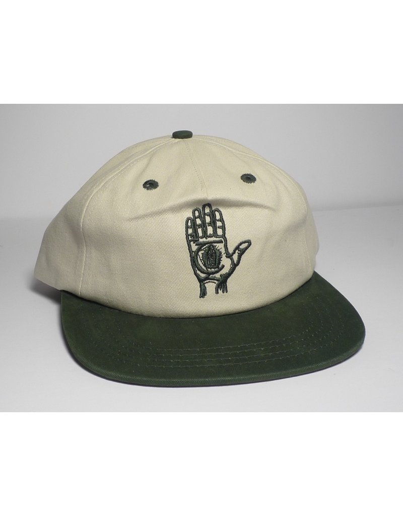 Theories Brand Theories Hand of Theories Strapback Hat - Pearl/Sport Green