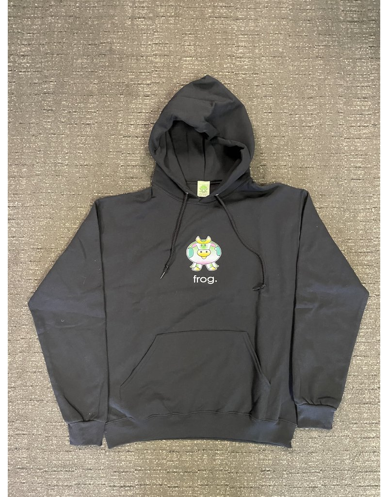 Frog Skateboards Frog Cow Hoodie - Black (size Small)