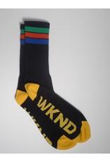 WKND Stripe Sock - Black