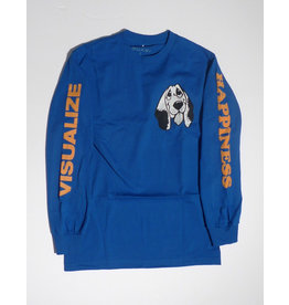 Quasi Quasi Happiness Long Sleeve T-shirt - Royal Blue