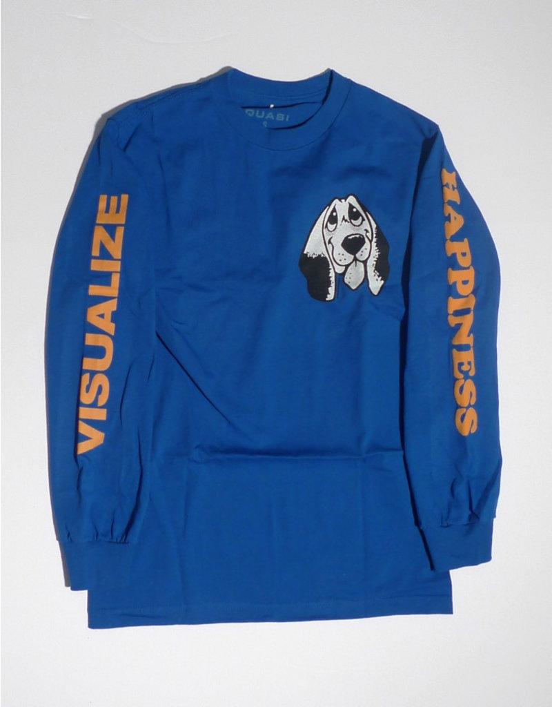 Quasi Quasi Happiness Long Sleeve T-shirt - Royal Blue