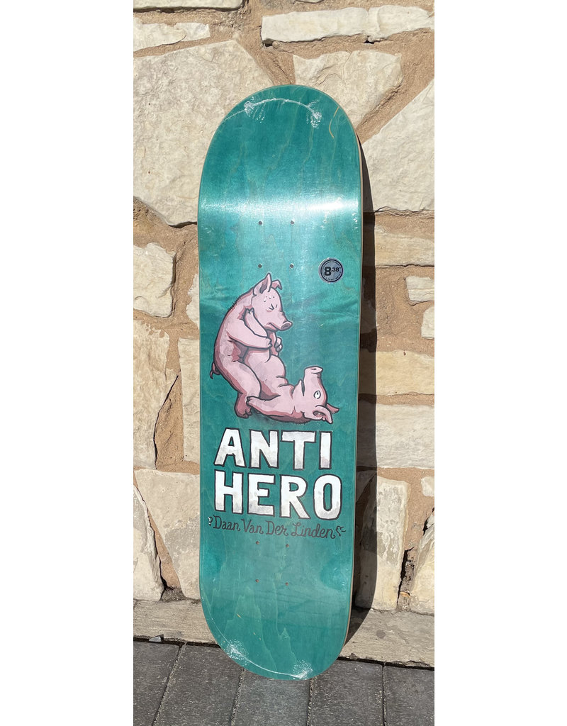 Anti-Hero Anti-Hero Daan Lovers II Turquoise Stain Deck - 8.38 x 32.25
