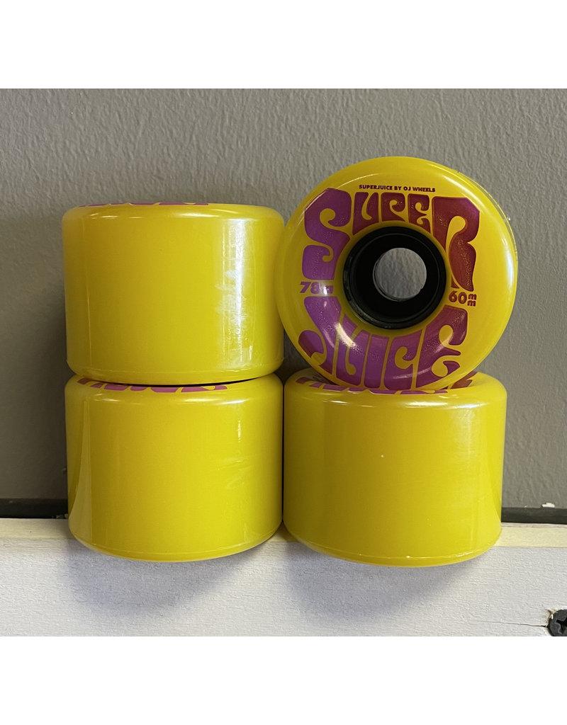 OJ wheels OJ 60mm Super Juice Yellow 78a Wheels (set of 4)