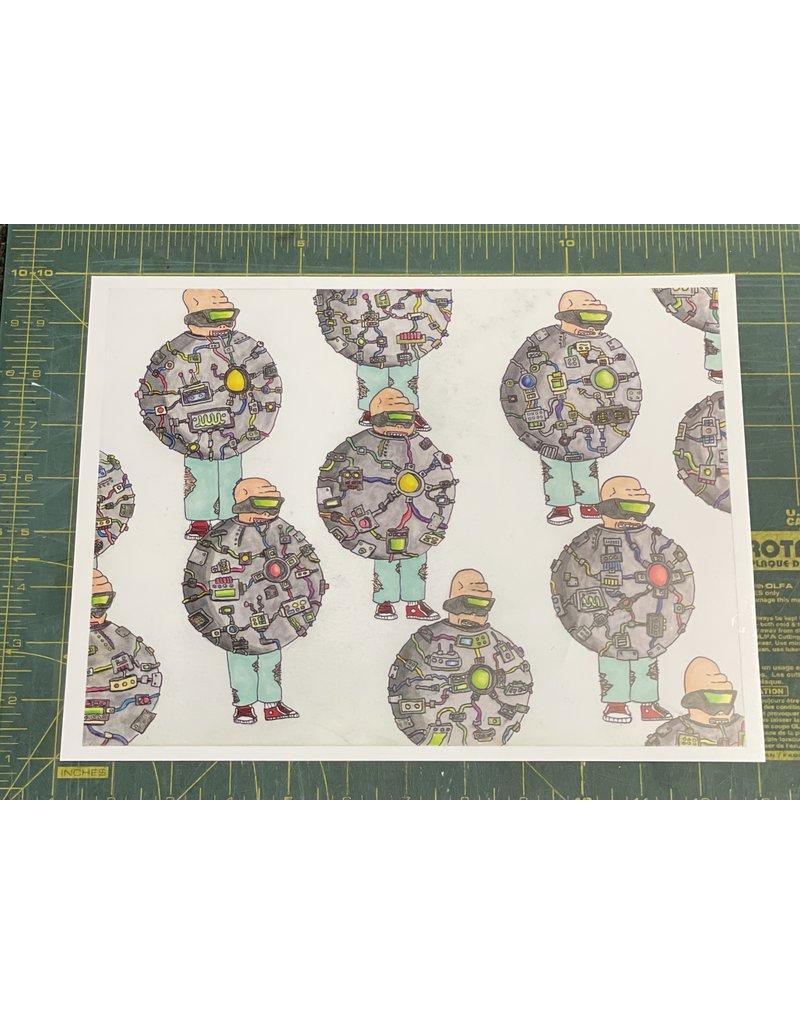 Pete Grannis Technology Bubble Print 9 x 12