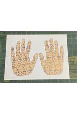 Pete Grannis Face Palm Print 9 x 12