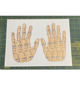 Pete Grannis Face Palm Print 9 x 12