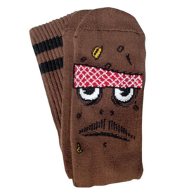Toy Machine Toy Machine Poo Poo Head Socks - Brown