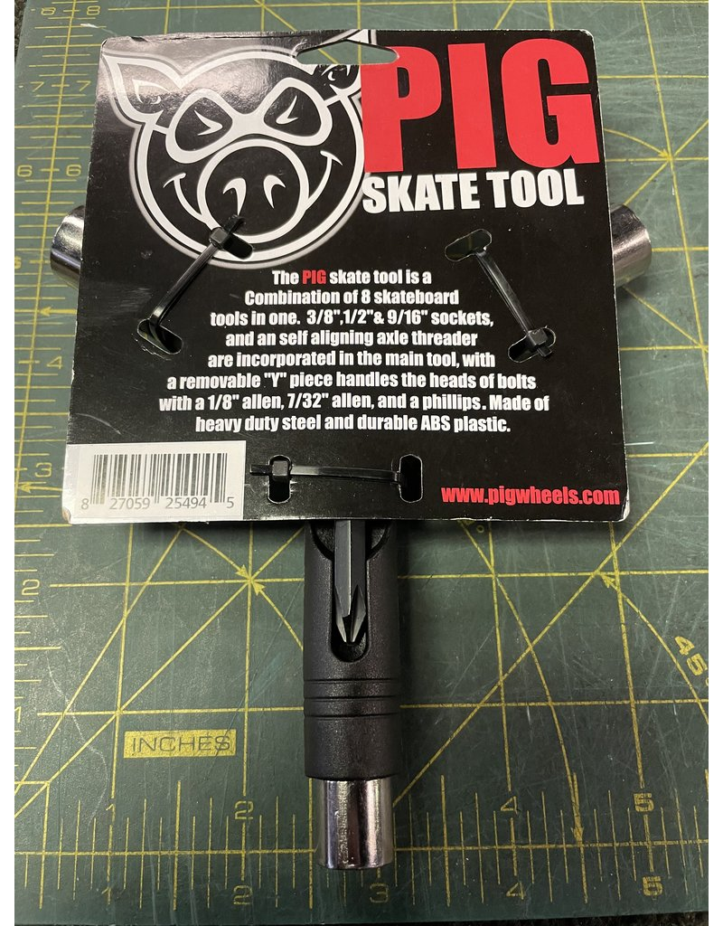 Pig Pig Tri-Socket Threader Skate Tool - Black
